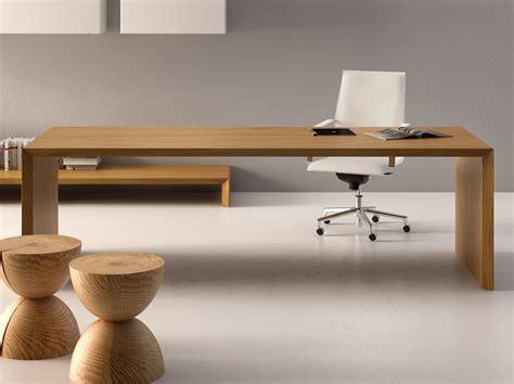 bureau design bois bureau rectangulaire en bois design cedar by fantoni