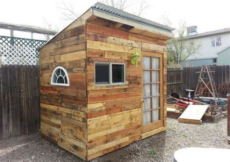 pallet shed barn cabin  building plans ideas
