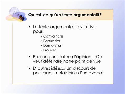ppt le texte argumentatif powerpoint presentation id 6418265