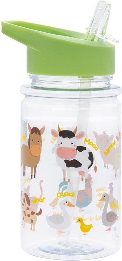 bol drinkfles met rietje boerderij dieren lesser