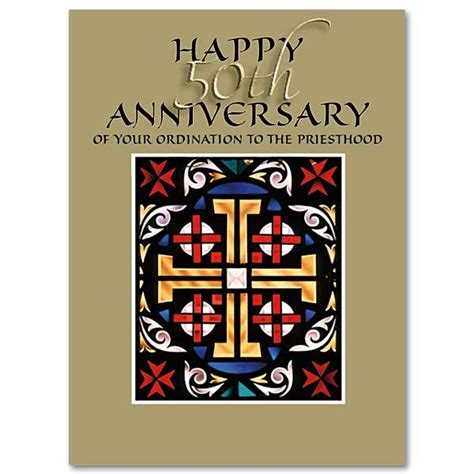 happy 50th anniversary of your ordination to the priesthood 50th anniversary of ordination card