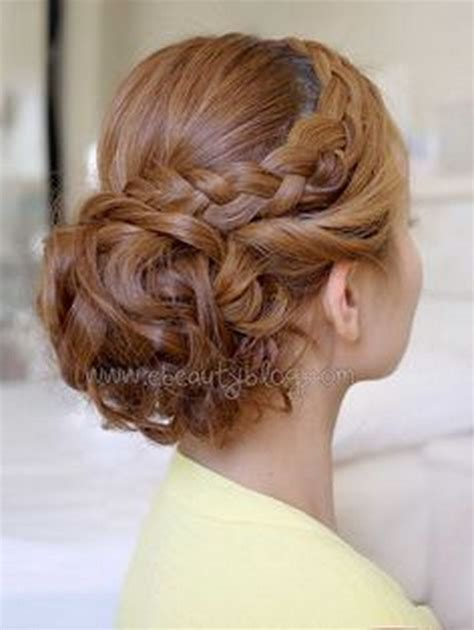 Updo Hairstyles With Braid by Curly Updo Prom Hairstyles