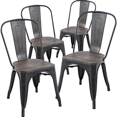 cheap price on the wood and metal kitchen chairs