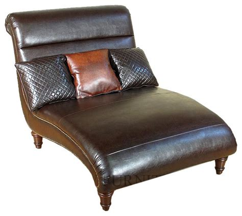 leather chaise lounge chair bonded brown leather chaise lounge with pillows