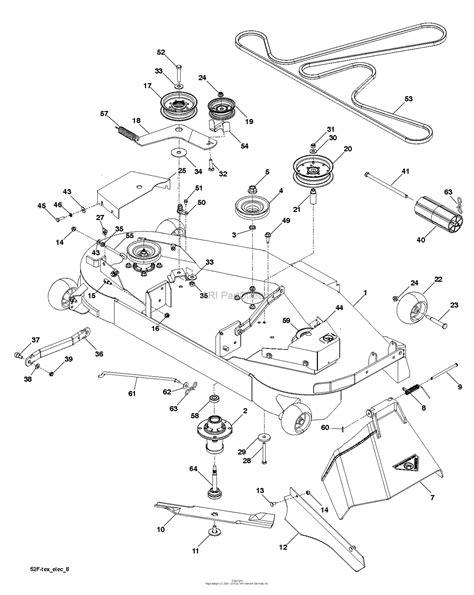 Deck Part Diagram by Husqvarna Gth52xls 96045005700 2015 08 Parts Diagram