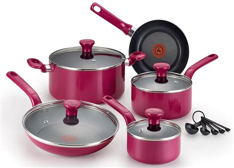 cookware purple oven safe nonstick dishwasher pfoa fal glass stoves amazon thermo pink market excite spot piece credit