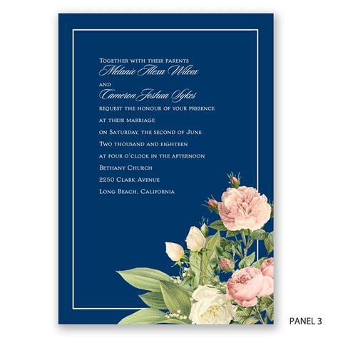 brilliant blooms invitation invitations  dawn