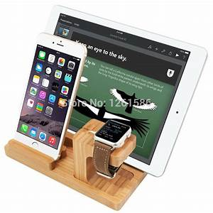 Dockingstation Ipad Air : 2015 fashion bamboo design for apple watch stand charging stand bracket docking station holder ~ Sanjose-hotels-ca.com Haus und Dekorationen
