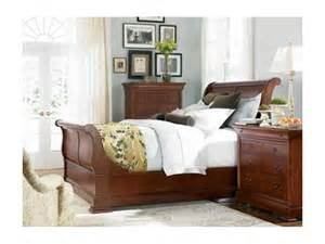 thomasville furniture king cherry sleigh bed in or king free ship ebay