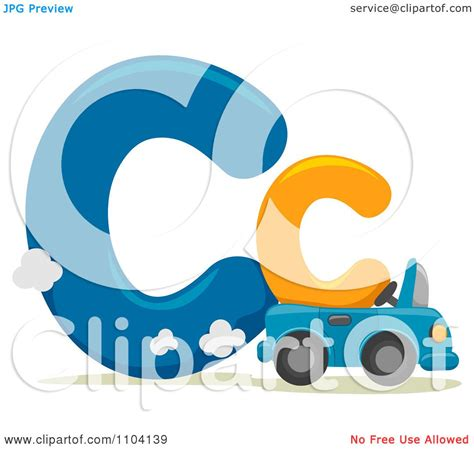 lowercase c clipart clipart capital and lowercase letter c with a car