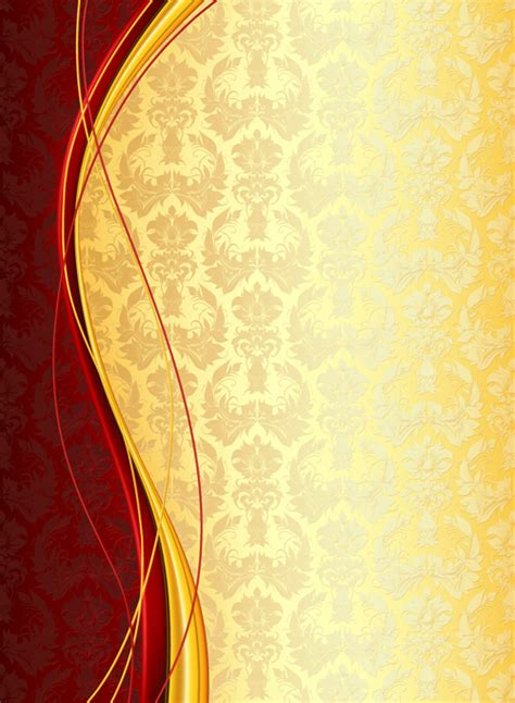 luxury floral pattern background vector set  vector