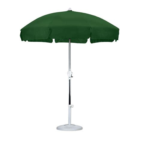 california umbrella 7 1 2 ft anodized aluminum push tilt