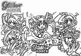 Coloring Pages Glitter Force Five Precure Printable Adults sketch template