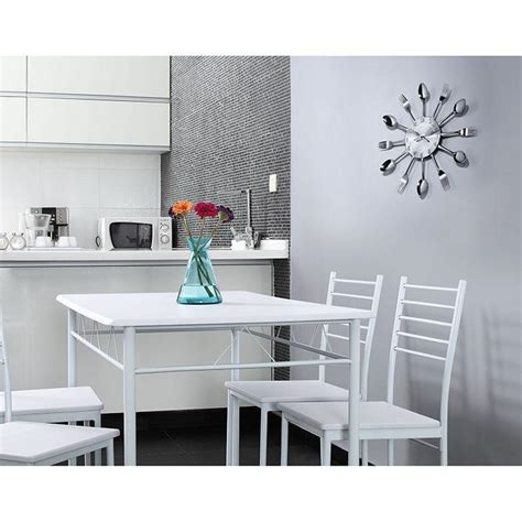 kitchen and dining area design crossword answers lexmod fork and spoon dining wall clock home 9638