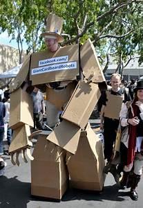 Amazing Giant Cardboard Robot Costume Gadgetsin
