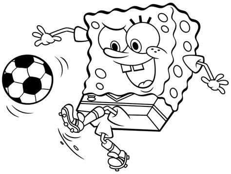 disegni da colorare e stare spongebob disegno di spongebob calciatore da colorare