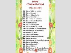 Para saber mais DATAS COMEMORATIVAS DE NOVEMBRO