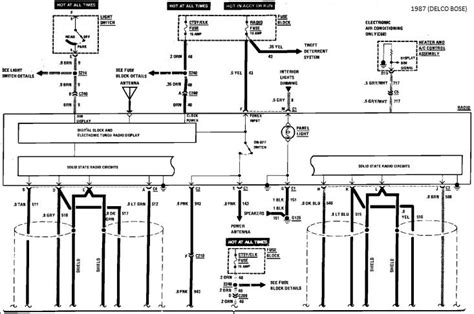 1984 Corvette Radio Wiring Diagram by C4 Bose Radio Connections Corvetteforum Chevrolet