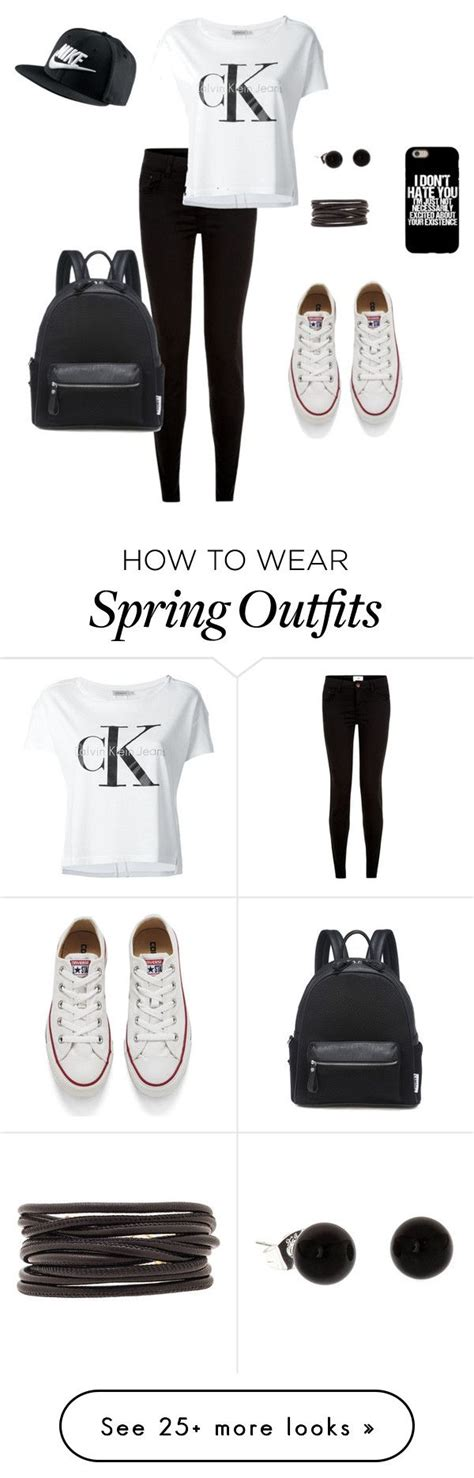 U0026quot;The chill black and white spring outfitu0026quot; by nikoline02 on Polyvore featuring Calvin Klein Jeans ...