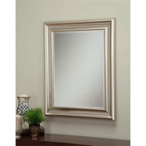 Silver Wall Mirrors Decorative - sandberg furniture chagne silver decorative wall mirror