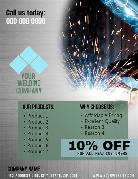 welding company flyer template postermywall
