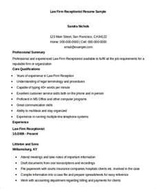 sle resume for hotel receptionist with no experience resume template for receptionist resume format download pdf