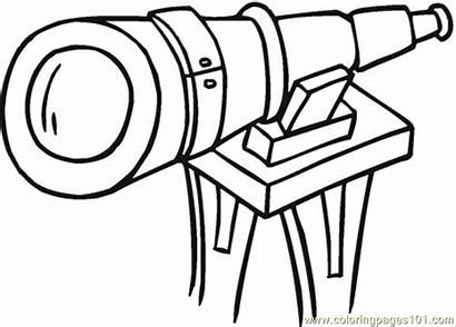 Telescope Coloring Pages Printable Optical Technology Illusion