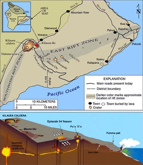Diagram Of A Hawaiian Volcano by Global Volcanism Program Report On Kilauea United