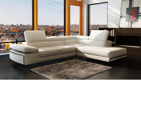 Contemporary Leather Sectional Sofas by Dreamfurniture 965 Contemporary Italian Leather