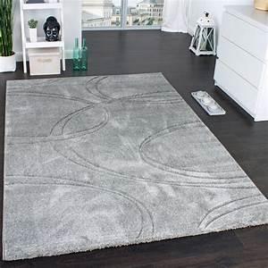 Teppich Grau Modern : teppich einfarbig designerteppich mit handgearbeitetem konturenschnitt uni grau teppiche ~ Whattoseeinmadrid.com Haus und Dekorationen