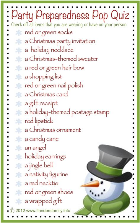 office games to play at christmas preparedness pop quiz free printable flanders family homelife