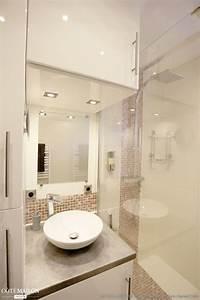 Salle De Bain 3m2 : salle de bain 3m2 r novation petit espace douche ~ Dallasstarsshop.com Idées de Décoration