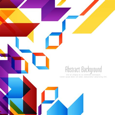 Abstract Geometric Shapes Background by Abstract Geometric Shape Background Free Vector