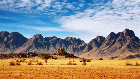 Nature, Landscape, Mountain, Clouds, Namibia, Africa