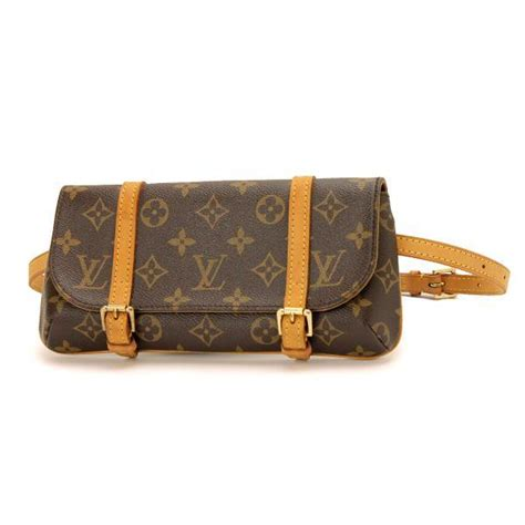 auth louis vuitton monogram pochette marelle bum bag purse