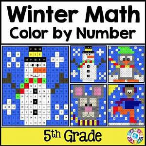 Winter Math Color-by-Number - 5th Grade – Games 4 Gains