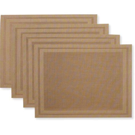 vinyl placemats canopy double border vinyl placemats set of 4 kitchen dining walmart com