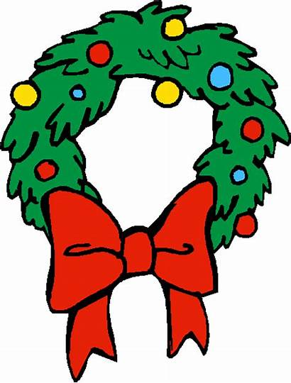 Wreath Cartoon Clipart Christmas Clip Cliparts Wreaths