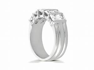 230ct diamond wedding band ring double row platinum for Double band diamond wedding ring