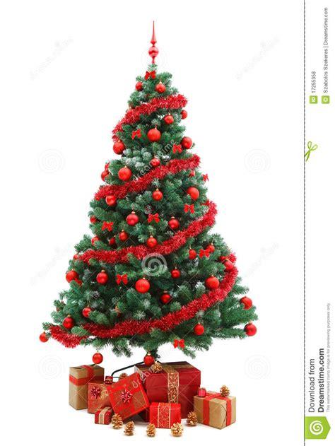 weihnachtsbaum mit geschenken stockfoto bild 17255358