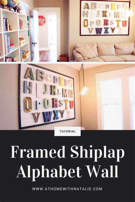 Framed Shiplap by Framed Shiplap Alphabet Wall At Home With Natalie