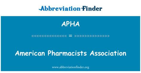 American Pharmacists Association by Apha Definici 243 N American Pharmacists Association