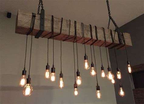 industrial lighting 60 quot reclaimed barn wood beam with