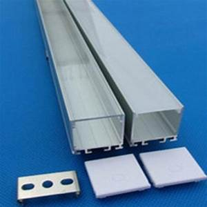 1 Inch Square Aluminum Track With Diffuser For Led Strips