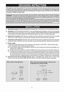 Grounding Instructions  Installation