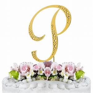 sparkle swarovski crystal wedding cake topper gold With gold letter wedding cake toppers