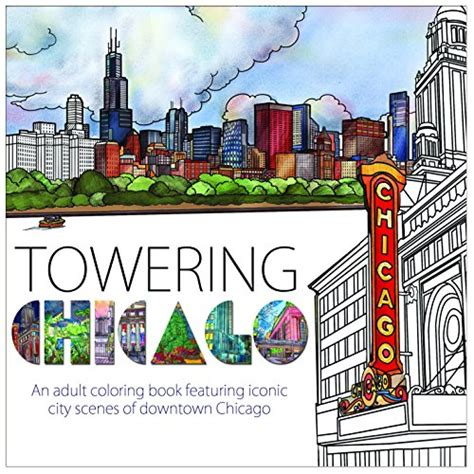 cheapest copy of towering chicago an adult coloring book