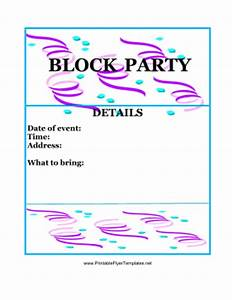 block party flyer color With block party template flyers free