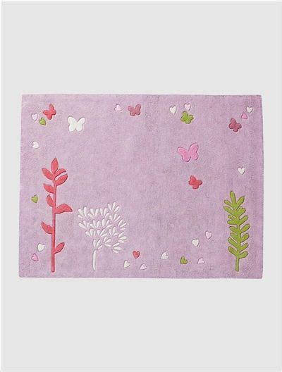 tapis chambre fille violet tapis fille fleurs et papillons violet vertbaudet enfant