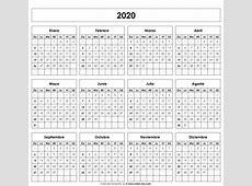 Calendario 2020 Calendarios Calendario, Calendario